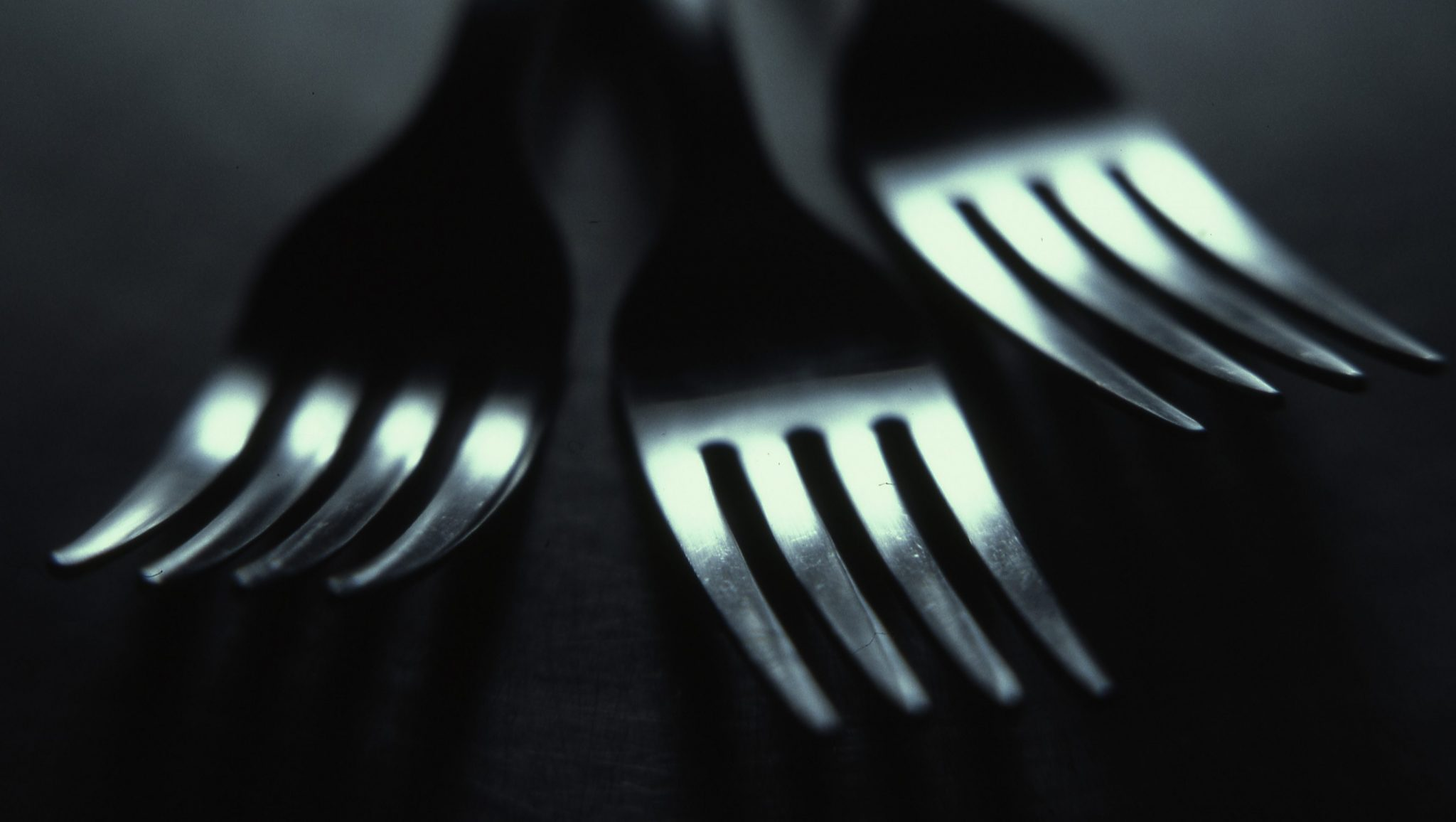 cutlery on table
