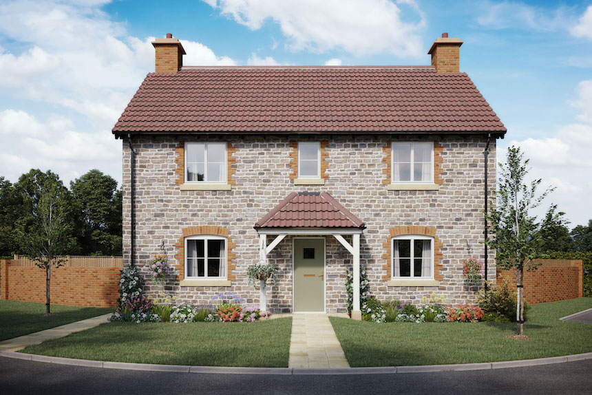 This computer-generated image shows the Fulbrook house available to buy at both Florence Gardens in Chipping Sodbury and The Paddocks in Tytherington
