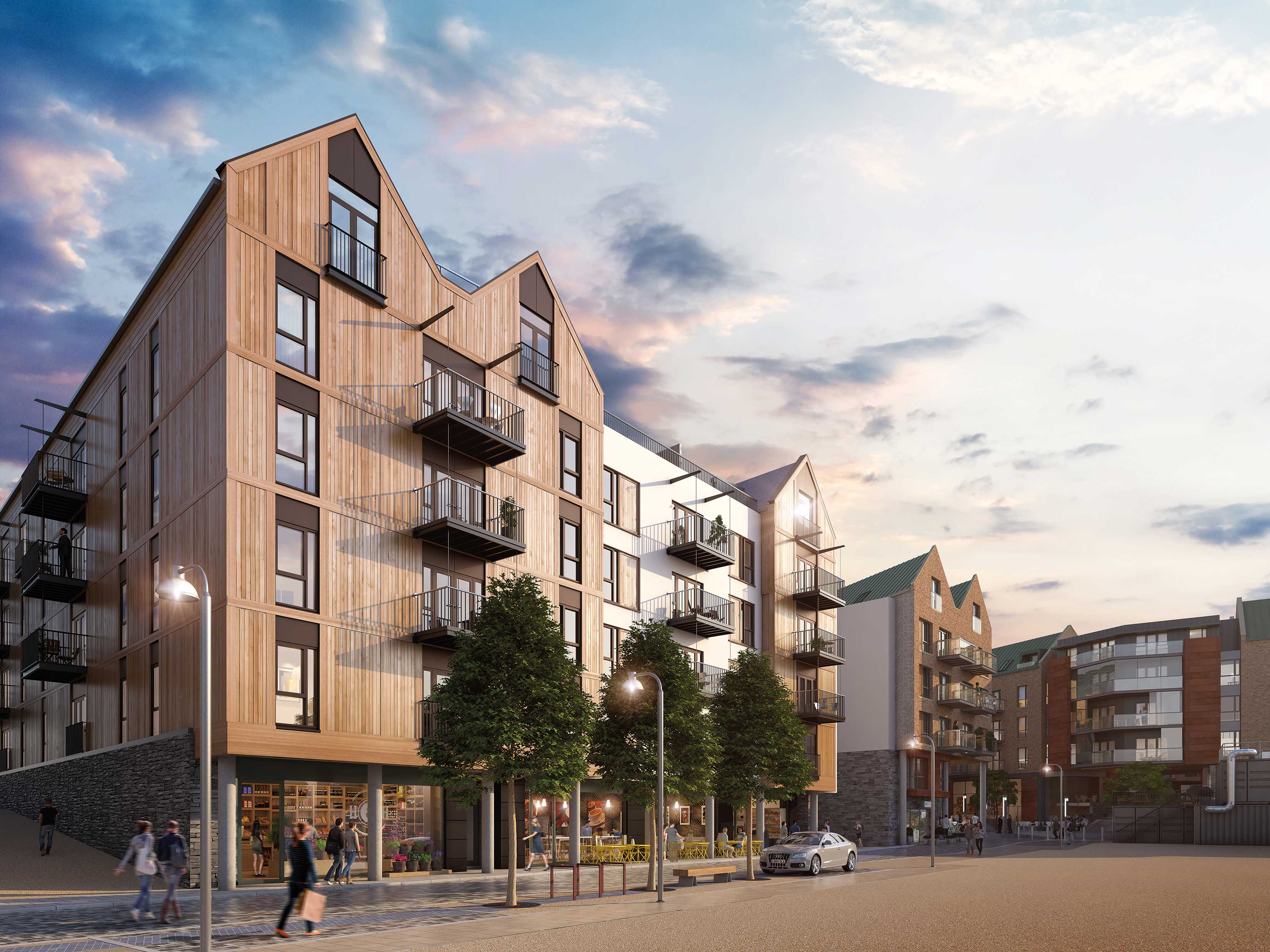 CGI of Wapping Wharf Living, for illustrative purposes only
